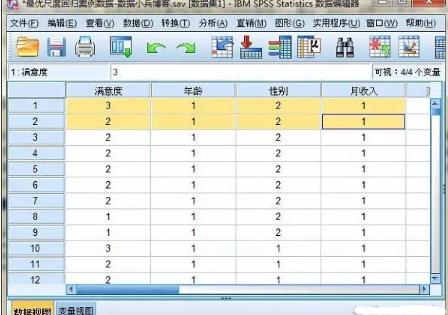 SPSS统计分析案例:最优尺度回归