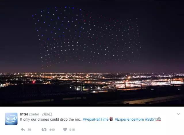 300 台无人机助力 Lady Gaga 超级碗表演:英特尔在下一盘大棋