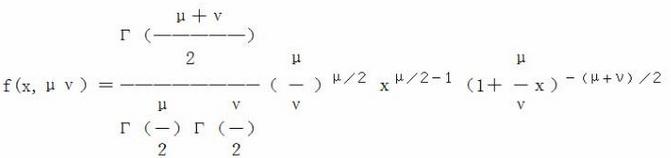 使用Excel绘制F分布概率密度函数图表