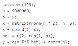 R中大型数据集的回归