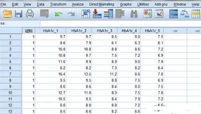SPSS应用重复测量数据的统计方法