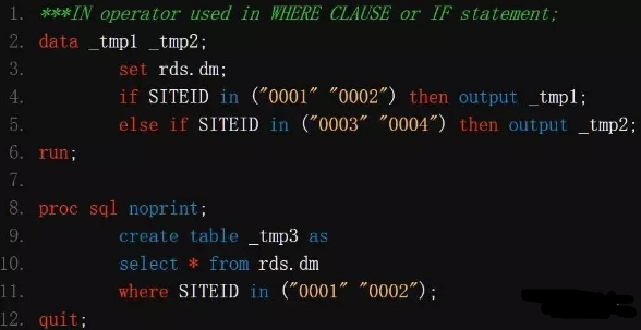 SAS运算符IN在宏语句中的应用