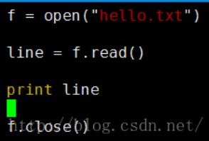 python技巧—Python的读文件
