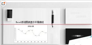 Excel折线图表怎么设置显示平滑曲线