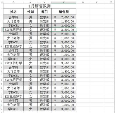 玩转Excel系列之SUMIF函数的使用