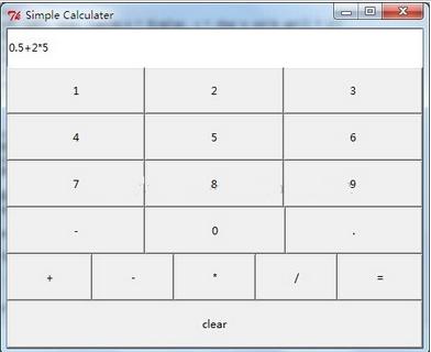基于python的Tkinter实现一个简易计算器