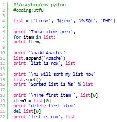 Python中3种内建数据结构:列表、元组和字典