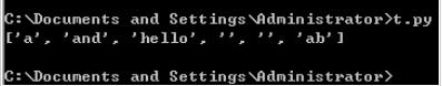 Python实现统计英文单词个数及字符串分割代码