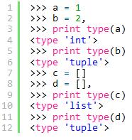 Python赋值语句后逗号的作用分析