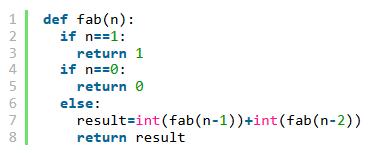 python实现斐波那契递归函数的方法