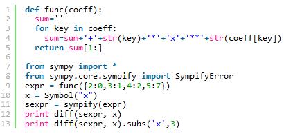 Python求导数的方法