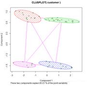 R语言绘制二元聚类图